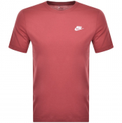 Nike Crew Neck Club T Shirt Red